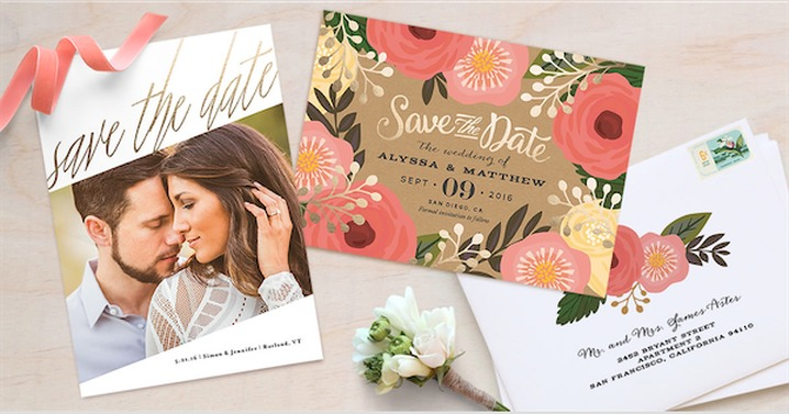 Save the dates by Minted