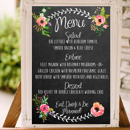 Chalkboards at Weddings
