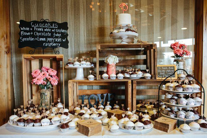 Cupcake Bar at a Wedding