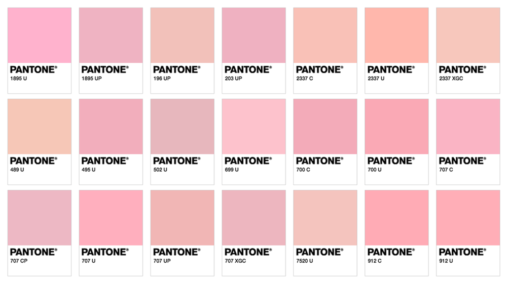 Millenial Pink Colors