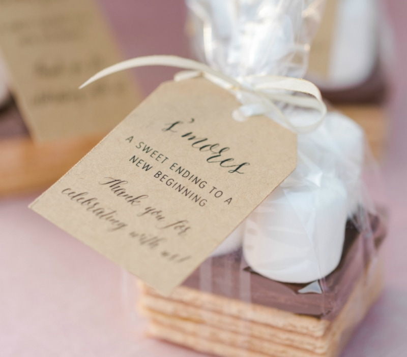 SMores as wedding favors